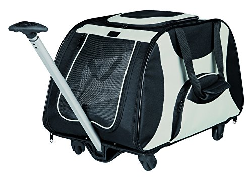 Trixie - Trolley, nylon, 34 x 43 x 67 cm, color negro y gris