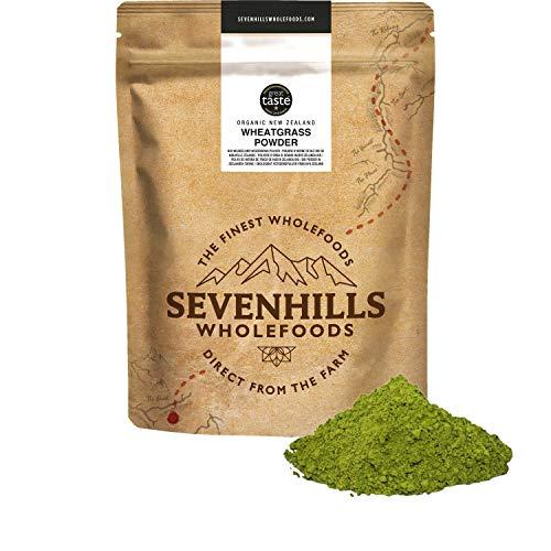 Sevenhills Wholefoods Poudre D'Herbe De Blé Bio De Nouvelle-Zélande 500g