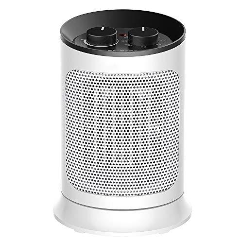 Heater 1500W Stufenlos Temperieren Schreibtisch, 60 ° Weitwinkel-Kopf Schütteln Low Noise Energiespar Heizlüfter, Einbau-Temperaturregelung Schalter for Schlafzimmer