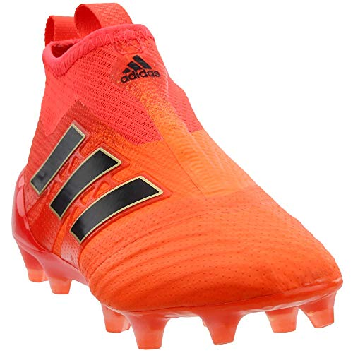 adidas Boys Ace 17+ Purecontrol Firm Ground Control Soccer Athletic Cleats, Orange, 4
