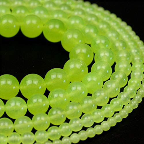 Oameusa Natural Round Smooth 4mm Natural Grape Chalcedony Agate Beads Gemstone Loose Beads Agate Beads for Jewelry Making 15' 1 Strand per Bag-Wholesale