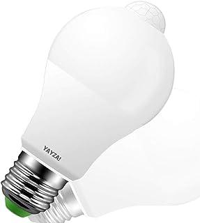 YAYZA! 1-Pack Premium Bombilla de Luz de Seguridad LED E27 10W con Sensor de Movimiento PIR incorporado, Bombilla con Sensor Fotocélula 1000lm 100W Equivalente 6000K Blanco Frío