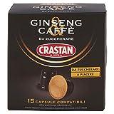 Crastan Capsule Compatibili Nespresso Ginseng, 15 Capsule