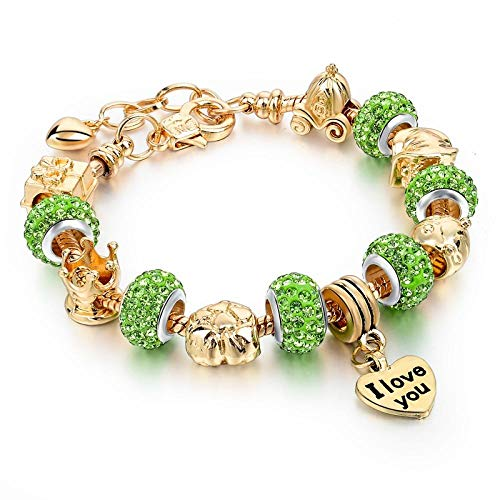 Armband sieraden Armbanden Gouden Bedelarmbanden Voor Dames Diy Glas- En Kristal Kralen Armbanden En Armbanden Pulseras Sieraden