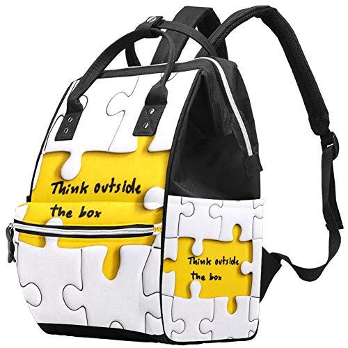 Grand sac à langer multifonction pour bébé, sac à dos, sac à dos, sac à dos de voyage pour maman et papa, Think Outside The Box citations Business Concept