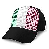 Cappello Regolabile in Cotone Moda Berretto da Baseball in Denim di Cotone Bandiera Italia composta da Punti Cappello da Cowboy