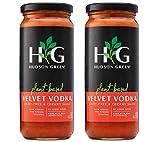 Plant-Based Velvet Vodka Pasta Sauce by Hudson Green | Vegan, Dairy-Free, Keto Friendly, No Sugar Added, Tomato and Spaghetti Sauce | 2-Pack of 16 oz. jars