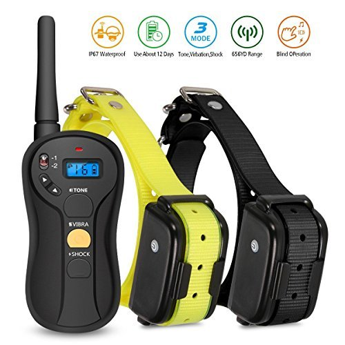 FOCUSPET Dog Training Collar, Waterproof & Rechargeable 16 Levels...