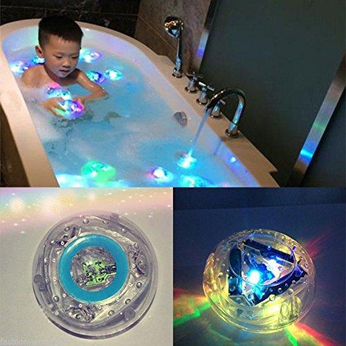 NO:1 Jouets de bain LED enfants, Lumières de baignoire, Lumières de salle de bains en multicolore étanche, Lumières de piscine, Lumières de aquarium
