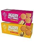 Early Foods Assorted - Dry Fruit & Multigrain Millet Jaggery Cookies, 2 X 150 g