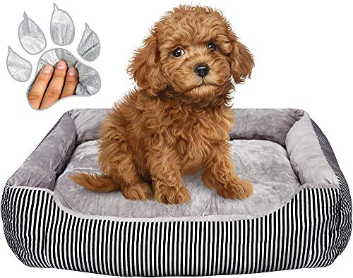 MYYINGELE Dog bed anti-chewing calming elevated dog anxiety relief grey sofa bed washable cushion waterproof pet bed for dogs and cats