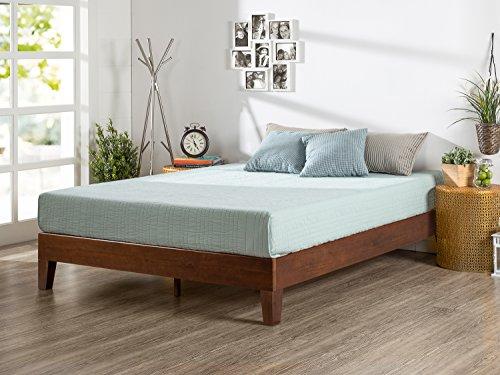 Zinus Marissa 12 Inch Deluxe Wood Platform Bed / No Box Spring Needed / Wood Slat Support / Antique Espresso Finish, Queen