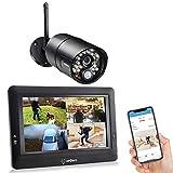 SEQURO Überwachungssysteme 720p HD mit 7 Zoll Monitor und 1 Kamera, Großer Reichweite, Tragbar Touchbildschirm, Nachtsichtfunktion, IP66 Wetterfest