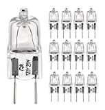 G8 Halogen Light Bulbs 20Watt 120Volt Halogen Light Bulb G8 Base Bi-Pin Shorter 1-3/8' (1.38') Length 20W T4 JCD Warm White Under Cabinet Puck Lighting Replacements,12Pack