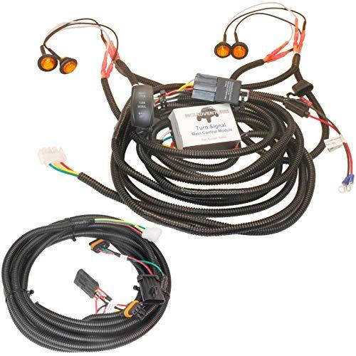 MCSADVENTURES Vertical Rocker Switch Turn Signal Kit for 2019+ Polaris Ranger 1000, RZR 900 S 1000 Turbo Pro XP Plug and Play Street Legal