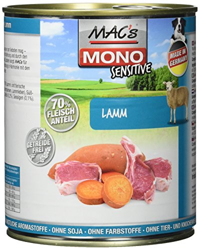 MAC's Mono Sensitive Lamm, 6er Pack (6 x 800 g)