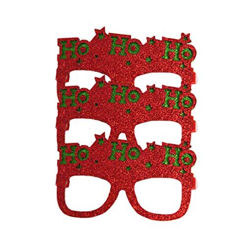 Tendycoco Fotolijst voor kerstbrillen, lijsten, voor feestjes, grappig, creatief voor adolescenten, kinderen, gloden