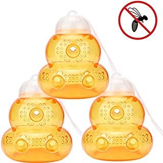 ts llc Non-Toxic Wasp Traps for Catching Hornets, Yellow Jackets and Bee Seting Free Effective and Reusable, Safe and Natural (3)
