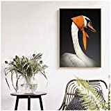 Arte de la pared de la lona impresión del cisne nórdico cuadro de la pintura al óleo de la pared cuadros de la pared decoración del dormitorio decoración del hogar Cuadros