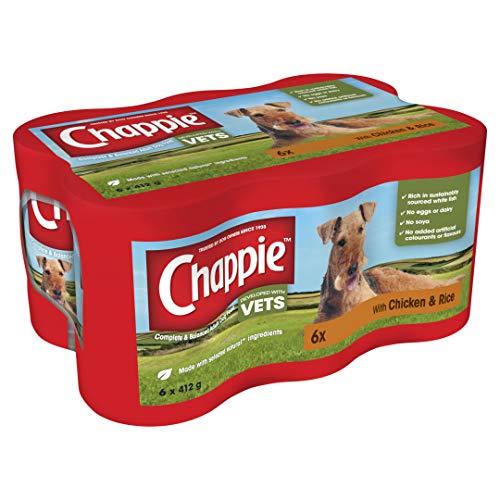 MARS Chappie Hundedosen, Huhn & Reis, 6 x 412 g, 4 Stück
