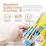 Single Mode Fibre Patch Cord - Duplex - UPC/UPC - 9/125um OS1 Multi-Packs / - Beyondtech PureOptics Cable Series 12 Beyondtech high-quality SC to SC Fiber Patch Cable Single mode 9/125 OS1 fiber is specially designed for fast Ethernet, Fiber Channel, Gigabit Ethernet Speeds, data center, premises, educational, LAN, SAN, commercial, 10GBASE-L (1310 nm), 10GBASE-E (1550 nm), 1000BASE-LX (1300 nm) and Asynchronous Transfer Mode (ATM) applications. It supports video, data and voice services. This fiber OS1 SC SC Fiber Patch Cord conforms with TIA/EIA 492AAAA and IEC60793-2-10 A1b standards and complies with RoHS specifications. This SM fiber has an yellow color jacket with a 3.00mm diameter. OS1 cables have a 0.25 dB/km attenuation at 1550 nm and 0.35 dB/km at 1310 nm.