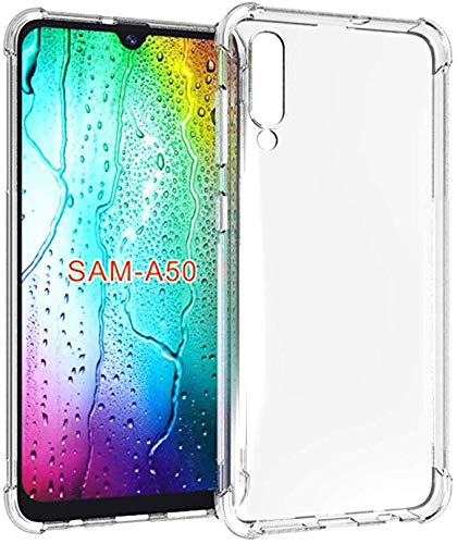 """GANAN Funda para Samsung A50,A50 Carcasa Silicona Transparente Protector TPU Airbag Anti-Choque Ultra-Delgado Anti-arañazos Case Caso para Teléfono Samsung Galaxy A50(2019) 6,4"""" Claro"""