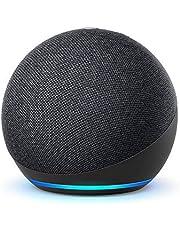 De nieuwe Echo Dot (4e generatie) Internationale versie | Smart luidspreker met Alexa | Antraciet | Nederlandse taal niet beschikbaar