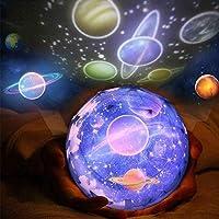 プラネタリウム 家庭用 常夜灯スタープロジェクターベビープロジェクターランプ360度回転惑星地球月星空海主導プロジェクター照明