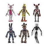 JINGMAI Anime Game Ninjago Figure Five Nights At Freddy's Animation Figures Action Figure Regali per Bambini Regali di Compleanno Giocattoli Modello 13,5-15 Cm