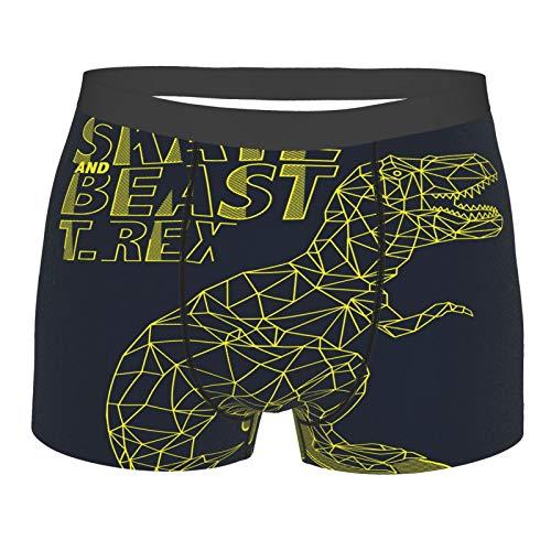 Skate Beast T. Rex Darkness Dinosaurier Herren-Boxershorts, weiche Unterwäsche, grafische Unterhose Gr. XXL, Schwarz