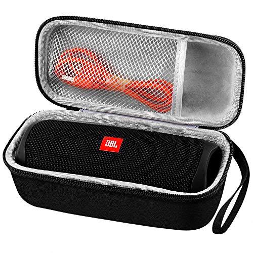 Case Compatible with JBL FLIP 5/4/3 Waterproof Portable Bluetooth Speaker - Black [New Model]