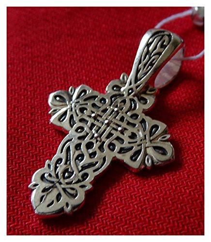 """☦ orthodoxes Kreuz auf Golgatha """"Baum des Lebens"""" Silber DM103"""