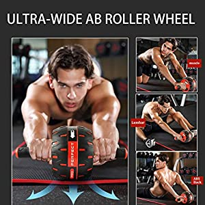 NANYNNU Ab Roller Wheel Workout Equipment - Ab Roller Wheel for Abdominal Exercise,Home Workout Equipment,Fitness Ab Roller for Core Workouts,Home Abdominal Exercise Equipment for Both Men Women
