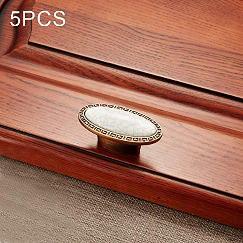 Hardware 5 PCS 5008 Kabinet Zinklegering Retro Handle Coffee Cat Eye Handle (Coffee Check) Handgrepen