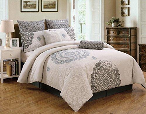 100 cotton comforter sets king 8 Piece King Antheia 100% Cotton Comforter Set   Kristen Standard ert 100 cotton comforter sets king