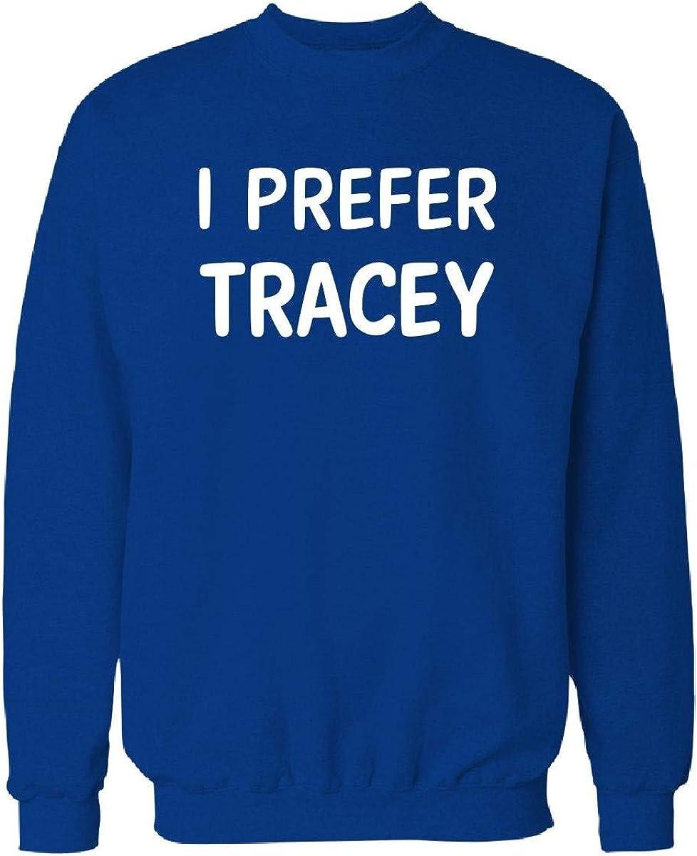 Courier shipping free I Fashion Prefer Tracey Name Sweatshirt XL Royal