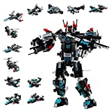 Milestar STEM Building Blocks TransformersToys 577 Pieces Super Robot Fantastic Gift for Age 6 7 8 9 10+ Year Old Boys Girls 25-in-1 Models Creative Educational Engineering Building Kit