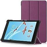 TTVie Housse pour Lenovo Tab E8 - Étui Ultra Mince et Léger à Rabat avec Support pour Lenovo E8 TB-8304F Tablette Tactile 8' Modèle 2018, Violet