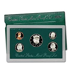 Comes in Original Government Packaging! 5 Coin Set - Includes a Penny, Nickel, Dime, Quarter, Half Dollar Proof coins are struck twice using specially prepared dies and planchets delivering coins with mirror-like finishes and exquisite details. Proof...