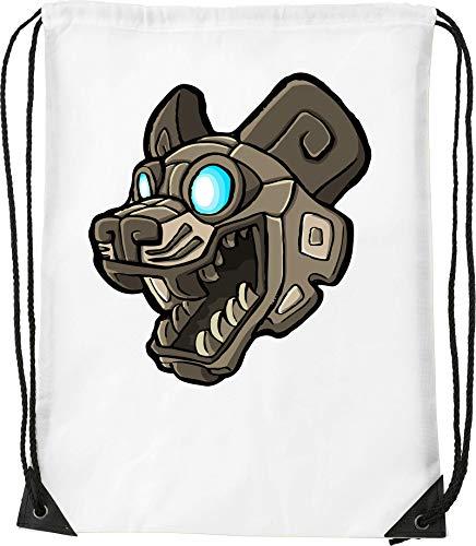Cartoon Styled Ancien Mayan Dog Statue Bolsa con cordón Saco Senderismo Gimnasio