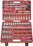 Famex 526-SD-21 Mechaniker Steckschlüsselsatz mit Gelenk- und Feinzahnknarre, 12,5mm (1/2-Zoll)-...