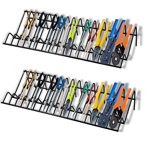 2 Pack Pliers Organizer Tool Box Drawer Storage Rack Durable Black Steel Rack Fits Most Toolboxes Hand Tool Organizers Storage Rack Slots Fit Most Pliers Professional QualityBlack