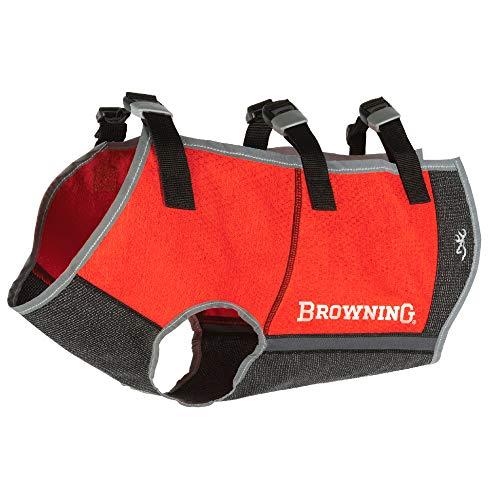 Browning Full Coverage Dog Safety Vest Dog Hunting Vest, Full Coverage, Safety Orange, Large