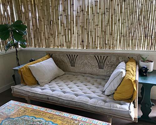 Home of Wool Colchón para cama de día, totalmente natural, cualquier tamaño bajo petición, 100% lino, bordes sin ribetes