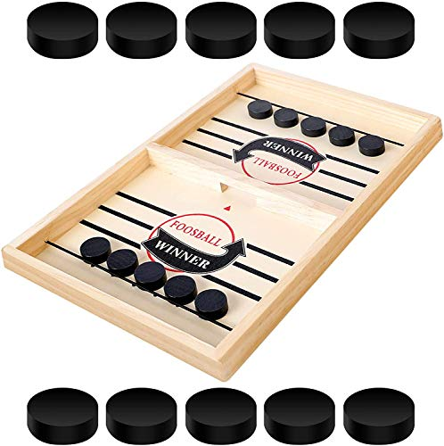 Jiahuade Schnelles Sling Puck Spiel,Portable Board Games,Winner Board,Brettspiele Trivial Pursuit Deutsch,Table Desktop Game,Brettspiele für 2 Personen,Ice Hockey Game,Brettspiel Schnell (A)