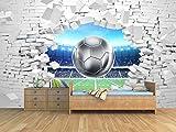 Oedim Fotomural Vinilo Adhesivo Pared Rota Fútbol, Vinilo Adhesivo Decorativo para Habitaciones, decoración para Paredes.