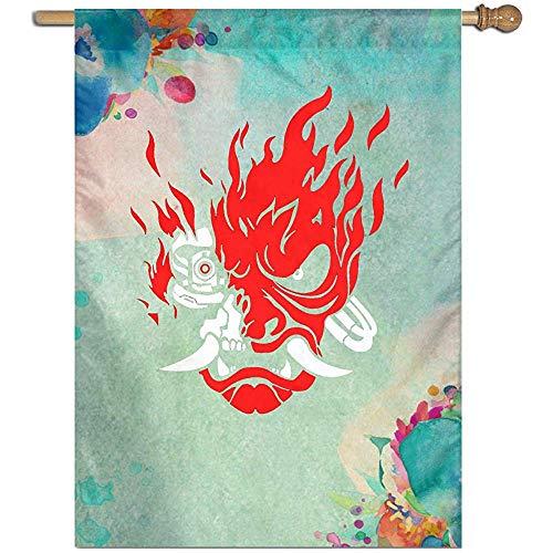 KDU Fashion Flag Banner, grappige huis vlaggen van de Cyber  Samurai voor welkomstdecoratie 32 x 45,7 cm