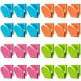 Magnetic Clips, 24 Pieces Magnetic Metal Clips, Refrigerator Whiteboard Wall Fridge Magnetic Memo Note Clips Magnets Metal Clip