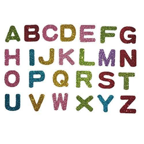 Pegatina de la letra, Pegatinas Letras Alfabeto Etiquetas engomadas auto-adhesivas de la espuma del brillo para la decoración del sitio de niños de la escuela primaria del jardín de la infancia