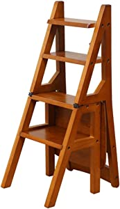 ZHJBD Furniture Stool Chairs Wooden Adult Wood Folded Stairs Chair Home Multi-Function Furniture Steps